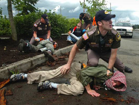 Island Breath: Olympia Washington Anti-Military Actions