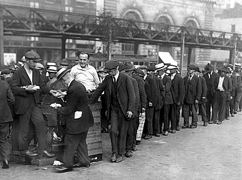 Above breadline in new york city during great depression in 1930 s