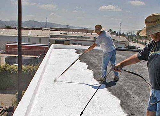 Delightful Image Above: Application Of Elastomeric Roof Coating. From  Http://www.renovatemyspace.com/roofs/?pu003d13