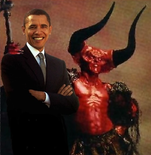 obama with the devil