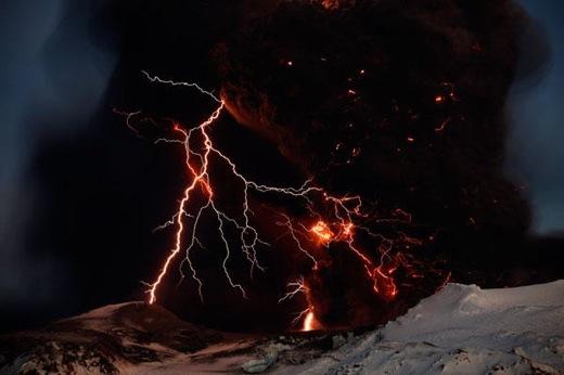 iceland volcano lightning. Image above: Lightning, fire,