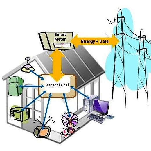 Electricity Smart Grid Clip Art