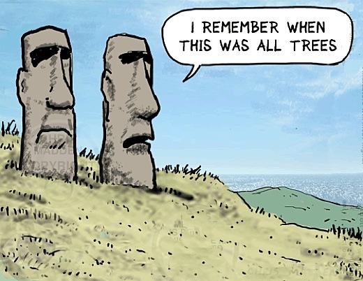 the collapse of the easter island civilization essay Sample toefl integrated essay - moai of easter island home » sample toefl essays » sample toefl integrated essay - moai of easter island  the question this is an original integrated essay written by toeflresourcescom  the author of the reading believes that the construction of the moai led to the collapse of the civilization located.