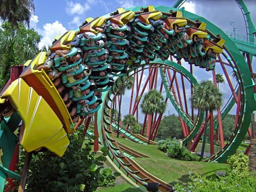 how to make a spiral on a roller coaster